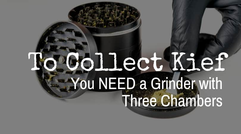 Grinder to collect kief