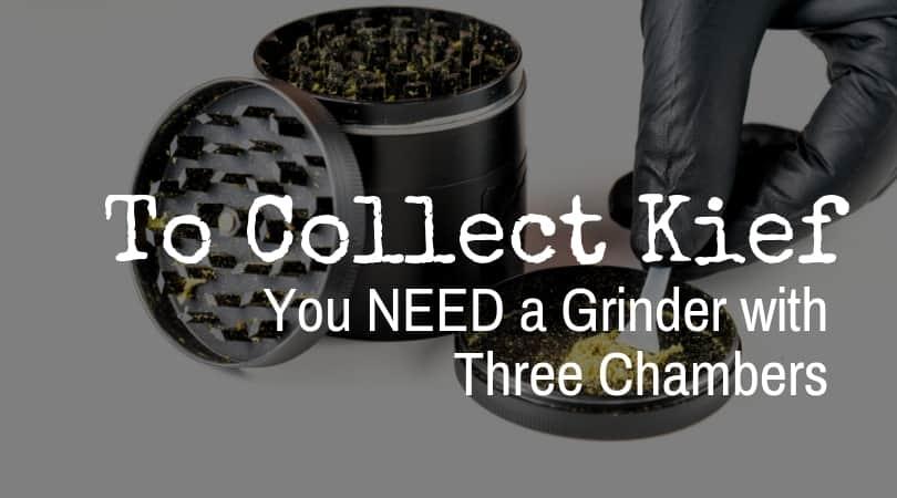 Grinder to collect kief